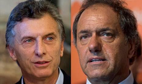 Mauricio Macri e Daniel Scioli