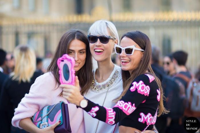 Erika Boldrin Linda Tol Zina Charkoplia Street Style Street Fashion Streetsnaps by STYLEDUMONDE Street Style Fashion Blog