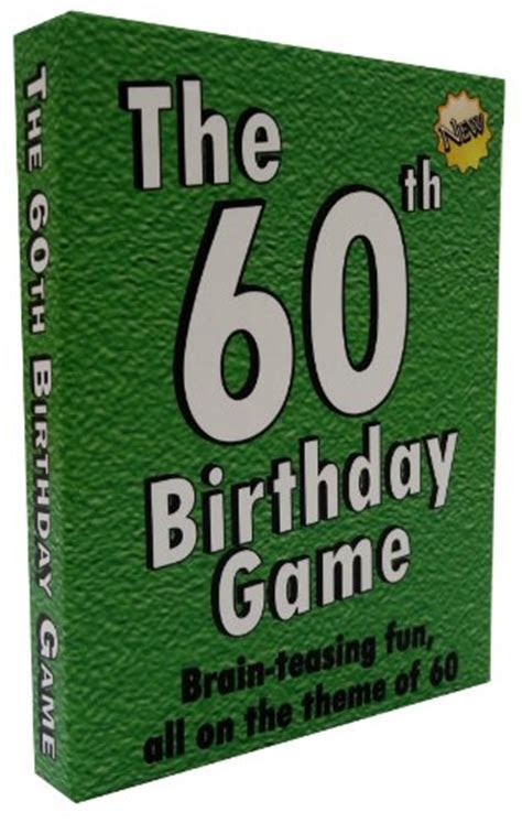 The 60th Birthday Game: a fun gift or present specially
