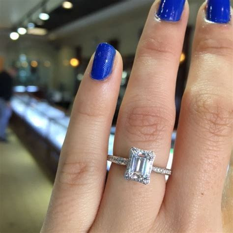 Tacori Engagement Rings Dantela Emerald Cut Setting