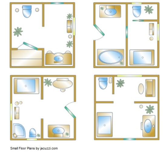 Small Bathroom Floor Plan Inspiration for Your Small Bathroom ...