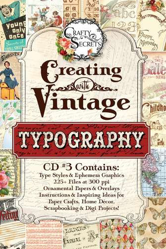 Creating with Vintage Typography CD #3 Special Pre-Order Free S&H Will Mail by May 25/12 picture