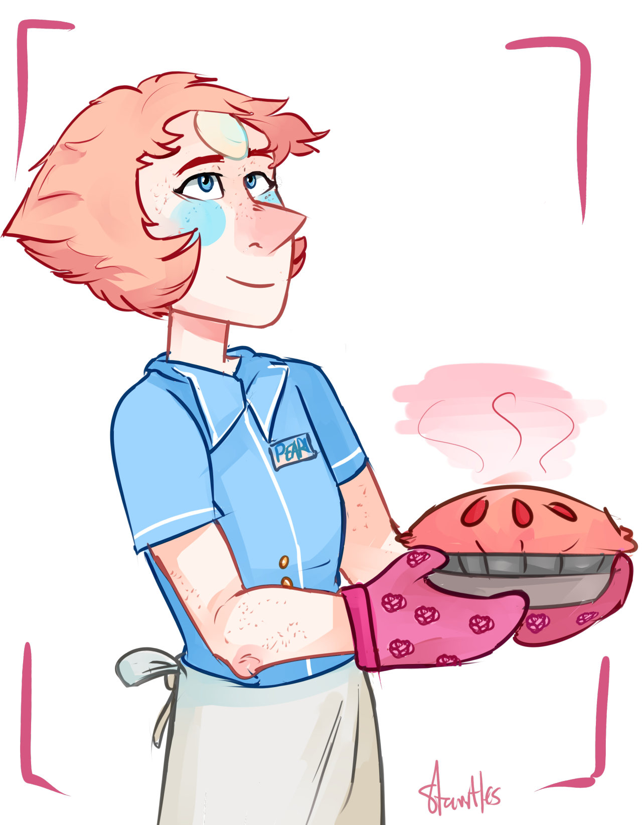 I love both the Waitress soundtrack (please listen to it) and the headcanon that the only food Pearl tolerates is pie, or that she at least loves baking it.