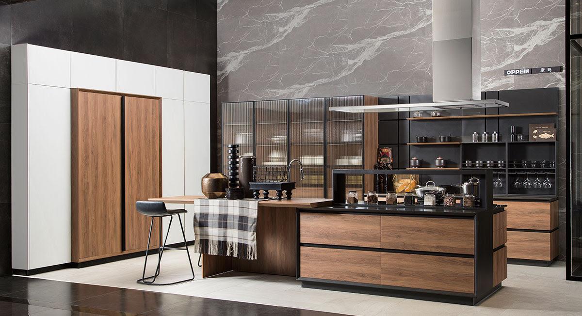 OPPEIN Kitchen in africa » Open Wood Grain Kitchen Cabinet ...