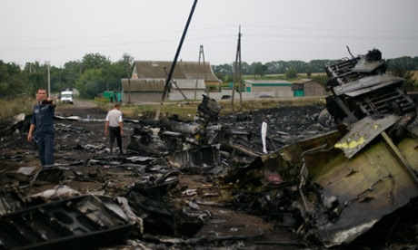Wreckage of a Malaysia Airlines flight MH17 near Grabovo and Rassypnoye. ukraine