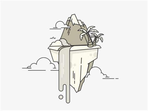 Cartoon Creative Floating Island, Island Clipart, Cartoon