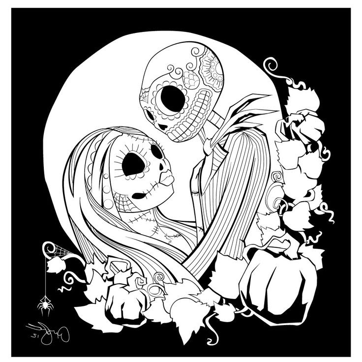 Jack And Sally Printable Coloring Pages at GetColorings ...