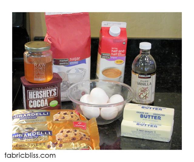 flourless chocolate cake - ingredients