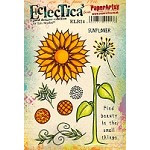 Paper Artsy - Eclectica Cling Mounted Rubber Stamps - Lin Brown Set 24