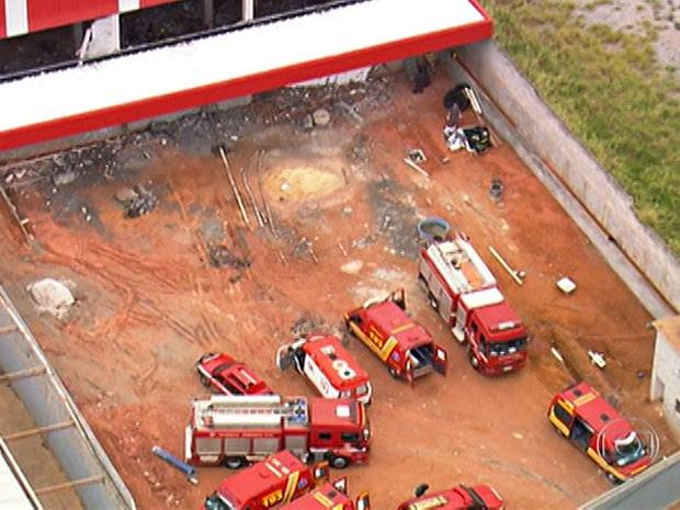 Desabamento de lajes em Guarulhos (Foto: Reprodução/TV Globo)