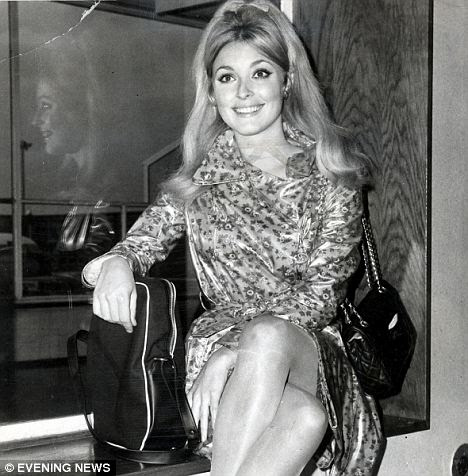 Tragic: Actress Sharon Tate, pictured here at London Airport, was murdered in August 1969