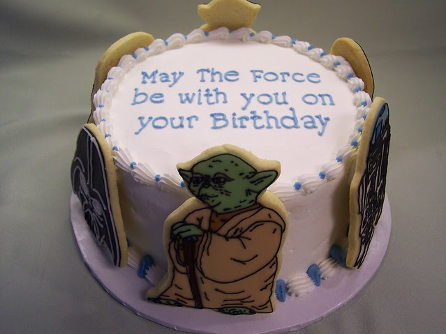 Star Wars Birthday cake   This is how the cookies looked ...