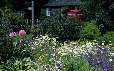 beautiful cottage gardens images   wallpaperwiki