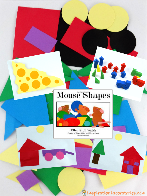 Mouse Shapes Inspired Collages