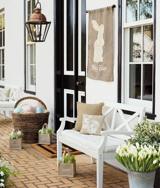 30 Cool Easter Porch Décor Ideas | DigsDigs