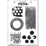 Stamper's Anonymous/Ranger - Dina Wakley Media - Cling Mounted Rubber Stamp Set - Textures