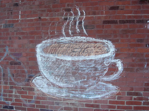 Chalked coffee cup