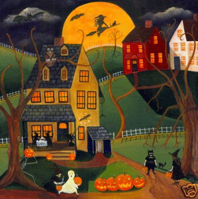 HALLOWEEN WITCH MOON- see this as a quilt. So cute!