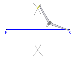 Printable instructions for drawing a 45 degree angle with compass ...