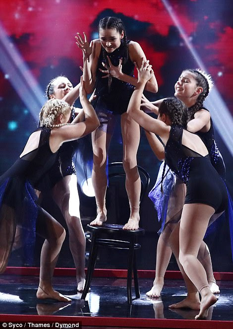 Stepping out: The dancers but on an incredible display on stage, dancing their hearts out for the final