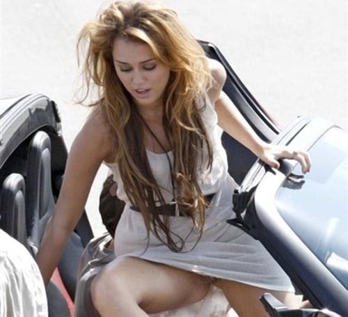 Cyrus upskirt car 12