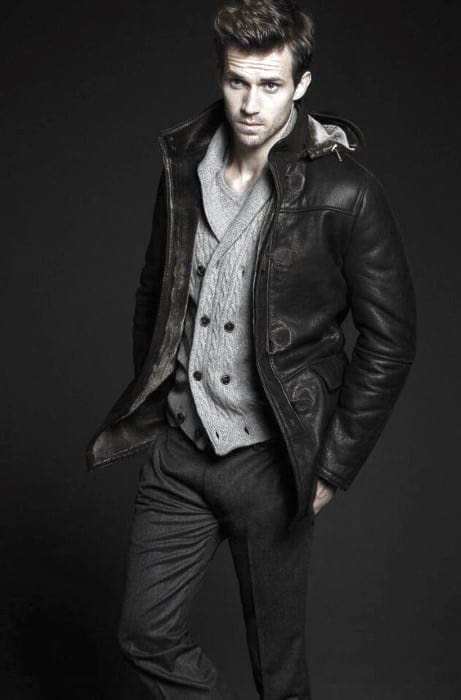 Coat For Men Black