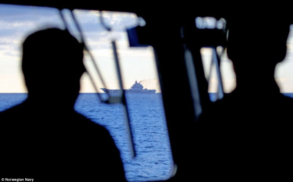 The KNM Fritdjtof Nansen of the Norwegian navy is part of NATO's response to monitor the Russian fleet