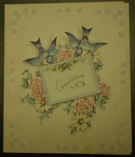 1940s Congratulations Greeting Card Vintage Wedding