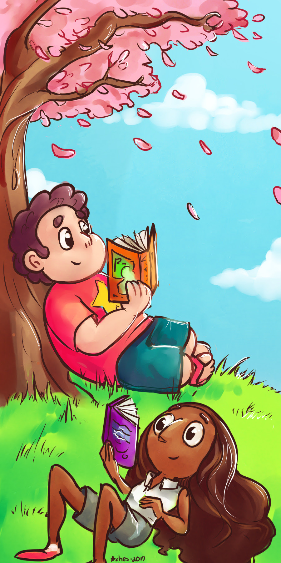 Upcoming Steven Universe bookmark that will be available at Siouxpercon next month and then at @sodakcon in June! Will also be available in my etsy soon!
