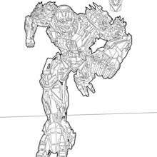 Transformers Optimus Prime Coloring Pages Hellokidscom