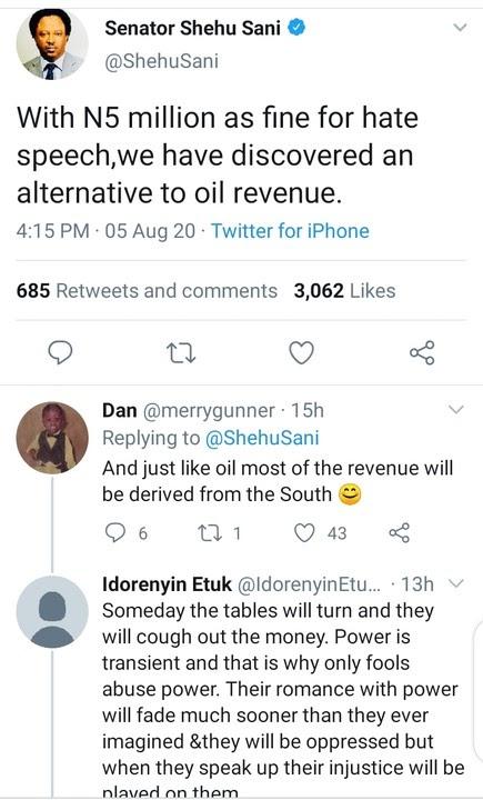 N5m Hate Speech Fine: We've Discovered Alternative To Oil Revenue – Shehu Sani