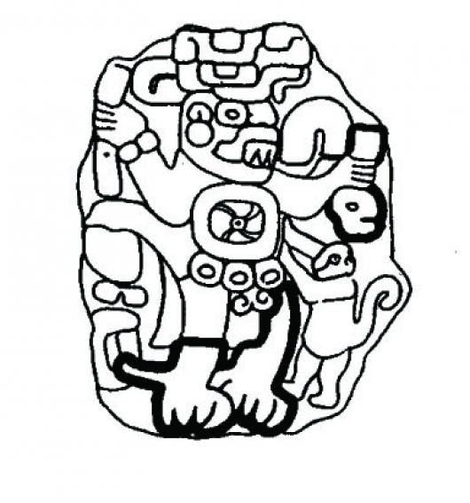 Dibujo De Una Estela Maya Para Pintar Y Colorear Dibujomaya