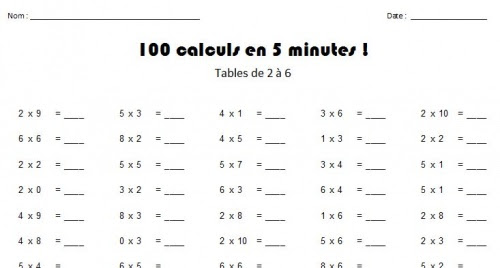 Meuble cuisine dimension exercice de table de multiplication ce2 - Table de multiplication a imprimer ...