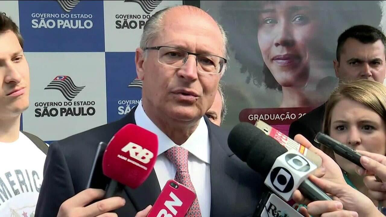 Alckmin e Doria defendem que PSDB tenha olhar para o Brasil