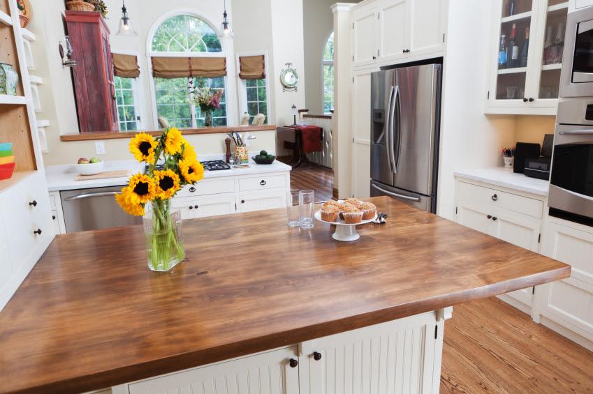 User Friendly Kitchen Butcher Block Countertop