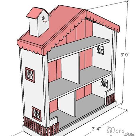 shabby chic dollhouse build plans