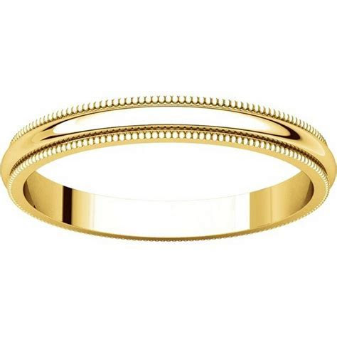 T123841 14K Yellow Gold 2.5mm Milgrain Comfort Fit Wedding