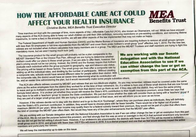 MEA on Obamacare
