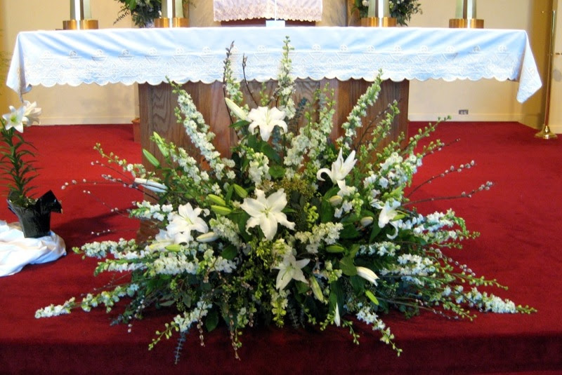 Beautiful Silk Flower Arrangements Church Wedding