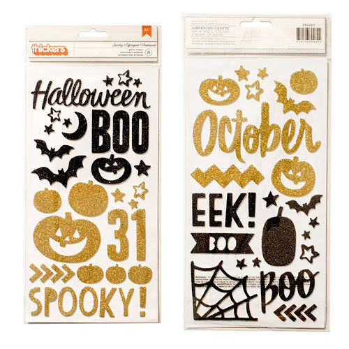 Crate Paper - After Dark Collection - Halloween - Thickers - Glitter Foam - Spooky