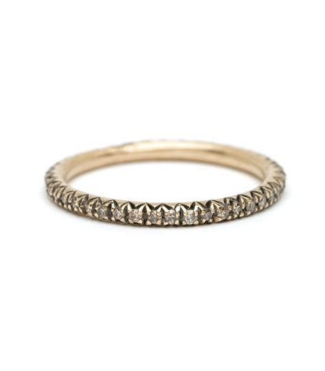 Eternity Bands   Micro Pave Champagne Diamond Eternity Band