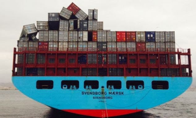 After the ship arrived in Malaga, Maersk discovered that about 520 containers were unaccounted for