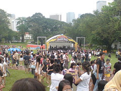 Crowd at Fort Canning Green