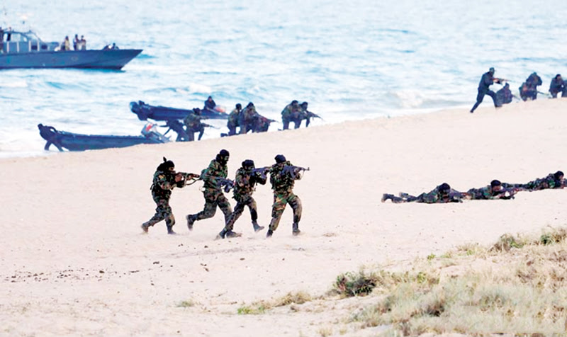 A mock battle. Picture courtesy Army.lk
