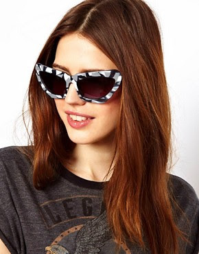 Image 3 of ASOS Monochrome Extreme Cat Eye Sunglasses