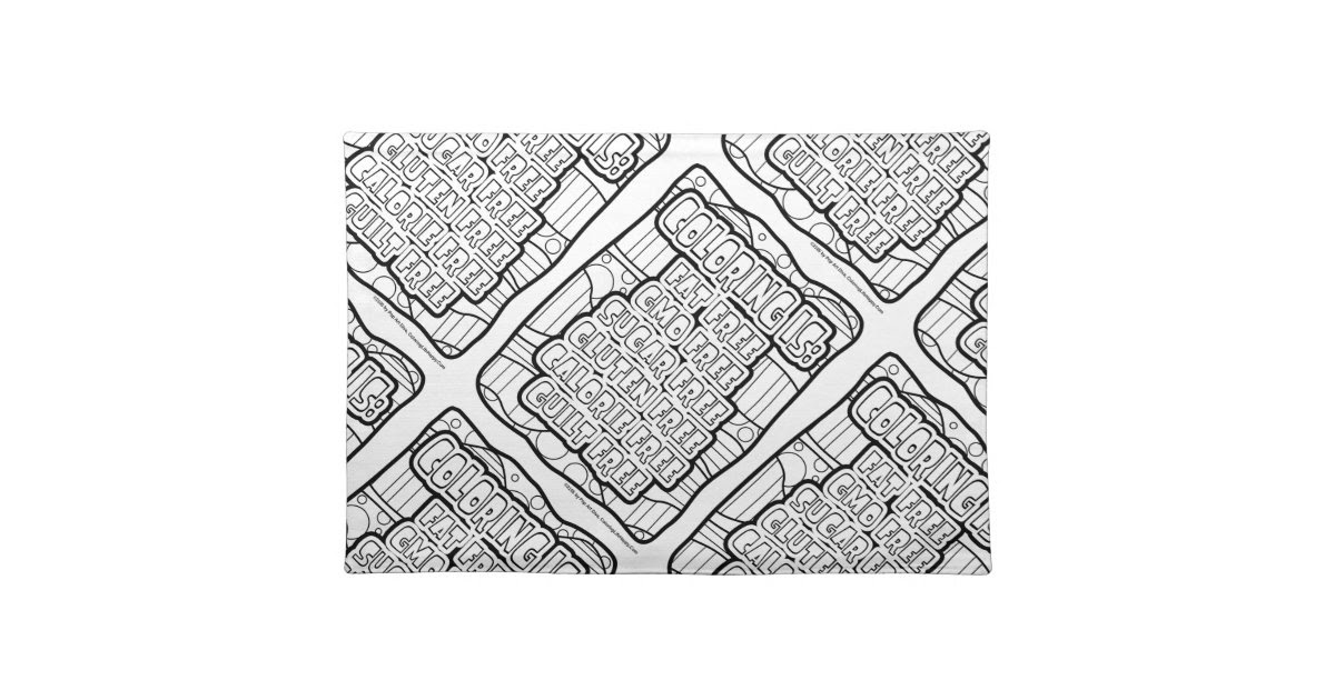 Download GUILT FREE COLORING on Cloth PLACEMATS   Zazzle