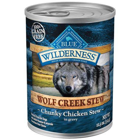 blue buffalo wilderness wolf creek stews adult canned dog