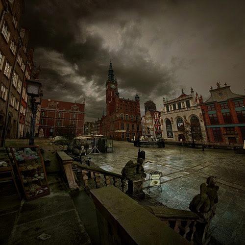 gdansk deszczowa pora in 22 Impressive Examples of Dark Photography