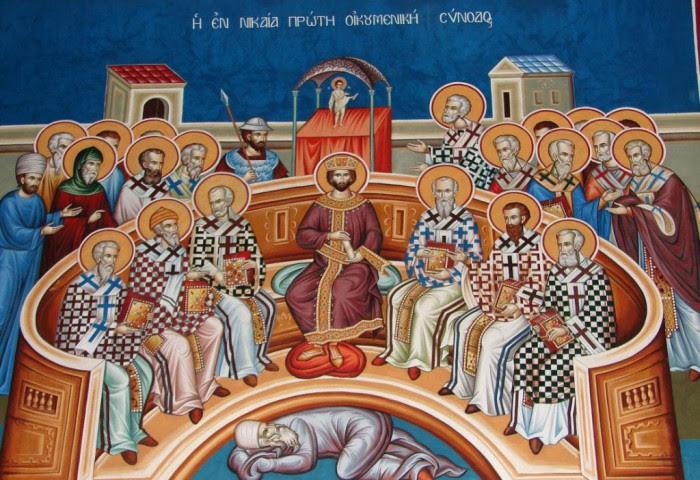 Αποτέλεσμα εικόνας για sfanti părinţi intai sinodul ecumenic