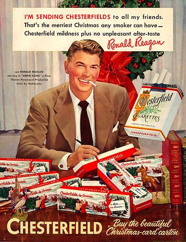 Ronald Reagan sends out smokes